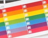 Planner Stickers TV Show Tracker Mini Box Little Things Label for Erin Condren, Happy Planner, Filofax, Scrapbooking