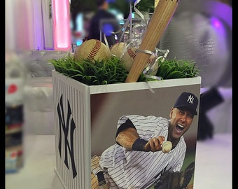 Sports Centerpiece - Any Sport! Teams! Players! BaseBall / Hockey / Football / Jeter / Mitzvah / Birthday / Communion /