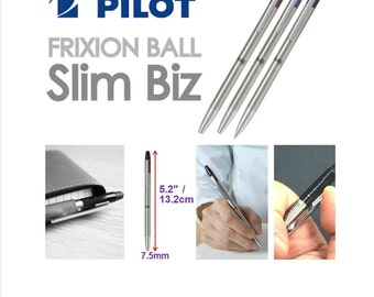 Frixion Slim Biz 0.38 or 0.5 Lightweight Metal Retractable Pen