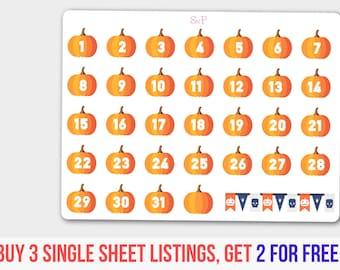 Pumpkin Planner, Halloween Countdown, Halloween,  Halloween Set, Halloween Pumpkin, Halloween party