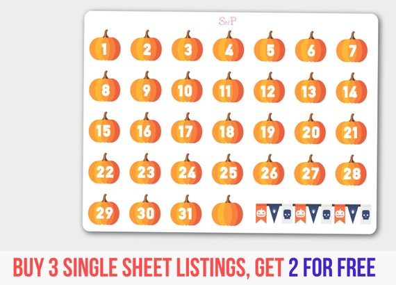 Halloween Countdown, Halloween Flag, Halloween Set, Halloween Pumpkin ...