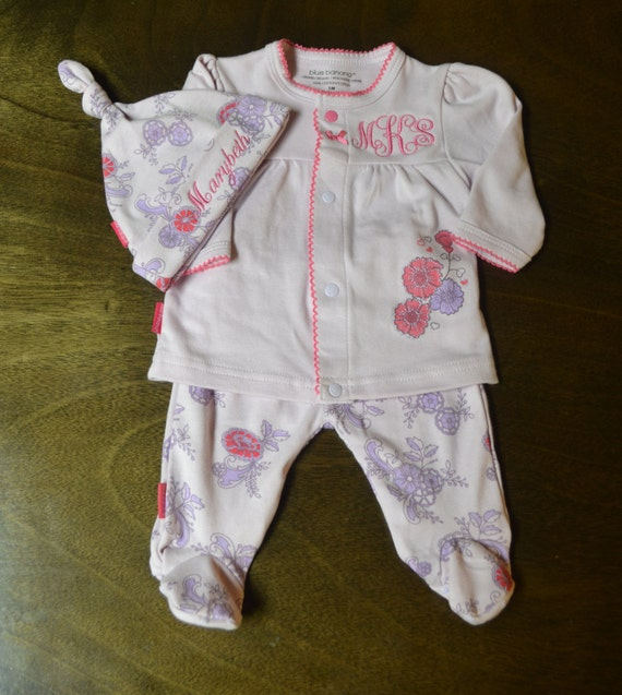 Personalized Baby Girl Going Home Outfit Baby Girl Clothes