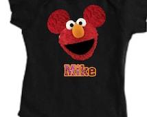 Personalized Elmo onesie, Custom Mickey Disney Unisex Onesie, Sesame Street Baby Wear, Custom Baby Onesies