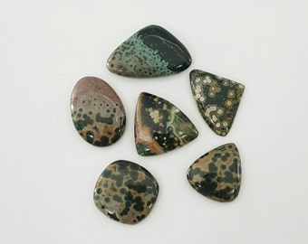 6 Pcs Lot of Ocean Jasper