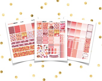 HELLO AUTUMN // Printable Planner Stickers / Erin Condren Plum Paper Happy Planner Filofax Inkwell Press October Fall Floral Thanksgiving