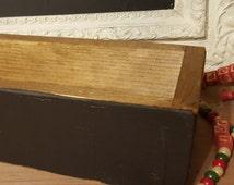 Rustic Chalkboard Box,  Chalkboard Centerpiece Box,  Mason Jar Box,   Wedding Centerpiece,  Candle Box, Rustic Deor,  Mason Jar Centerpiece