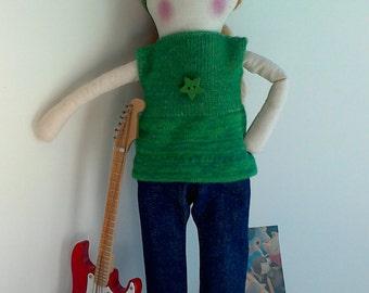 Olivia, Trapos e Tralhas Rag Doll, Handmade