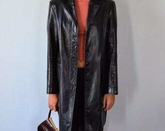 Ladies leather coat | Etsy