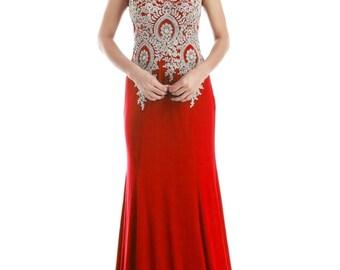 Lace Long Prom Dress