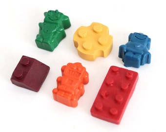 Blocks and bots crayons