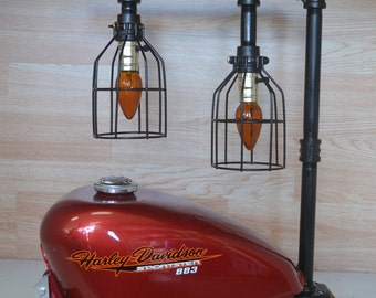 Motorcycle Gas Tank Desk / Table Lamp