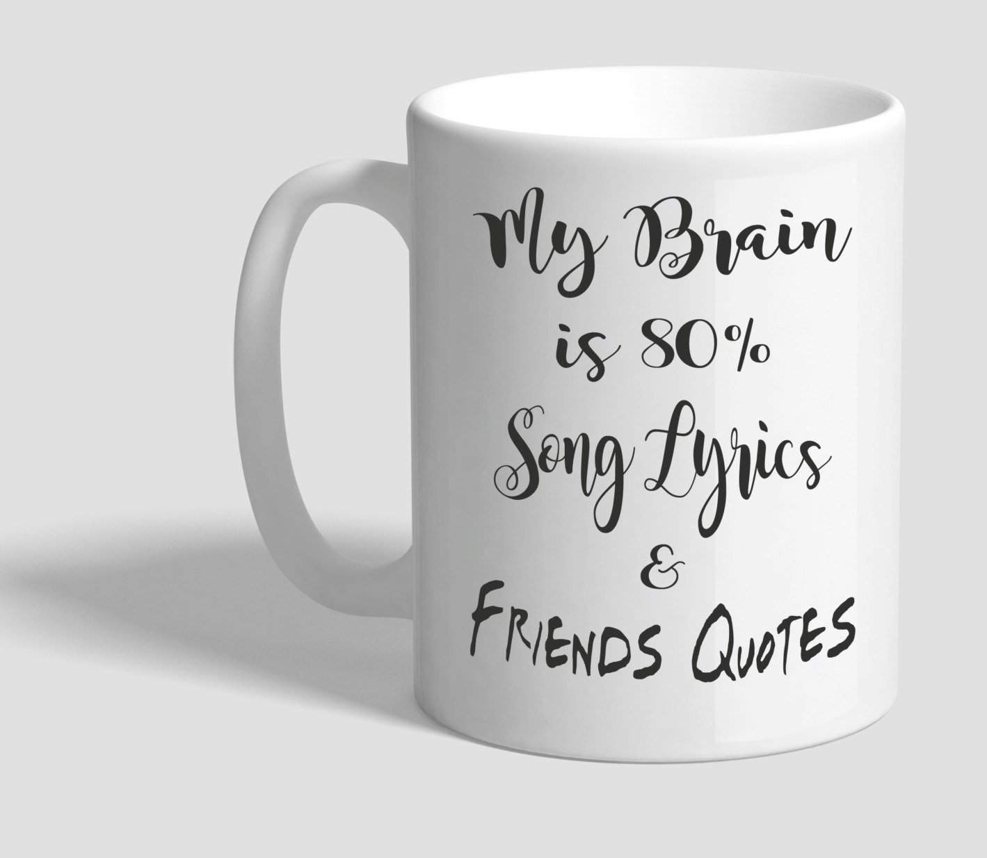 Quotes About Coffee And Friendship My Brain Coffee Mug 11 Ozsong Lyrics And Friends Quotes
