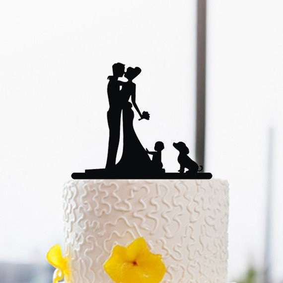 wedding cake topper silhouette with dogs wedding cake topper with silhouette and by 26501