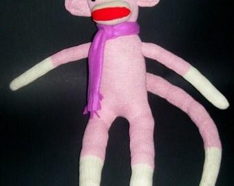 Original Red Heel Sock Monkey - Pink