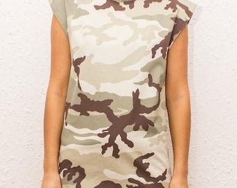 Camouflage Mini Dress / Party Camo Dress / Hipster / Military Dress by FabraModaStudio/FAB122