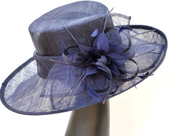 Derby Hat, Church hat, Tea Party Hat, Blue Hat, Formal Hat, Fashion Hat, Church Hat, Derby Hat