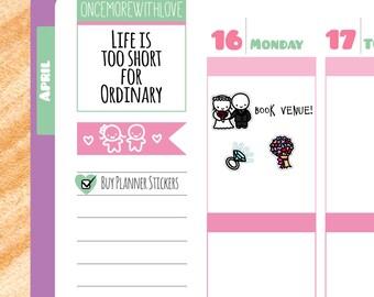 Munchkins - Wedding Planner Stickers (M54)