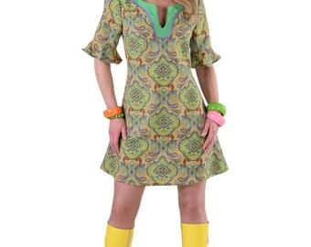 Ladies 60's Summer of Love Hippy Dress , sizes 6-22