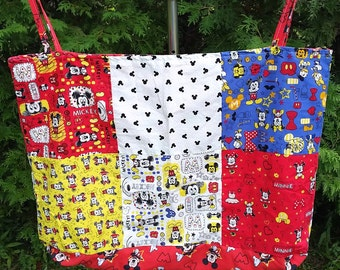 Large Handmade Mickey Mouse Beach/Gift Bag