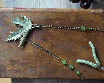 """Necklace """"green maple leaf"""""""