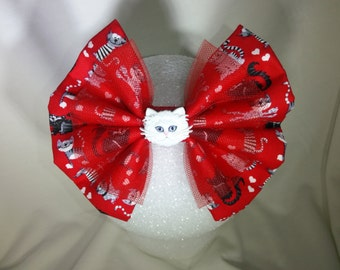 Cat-ittude Hair Bow
