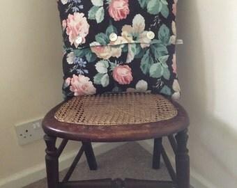Vintage linen cushion