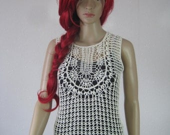 Beautiful handmade crochet summer blouse
