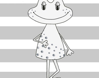 FUNNY FROG for a baby girl