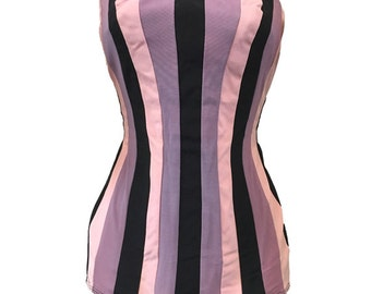 REDUCED Bombshell 1950s Striped Bathing Suit Swimsuit Small