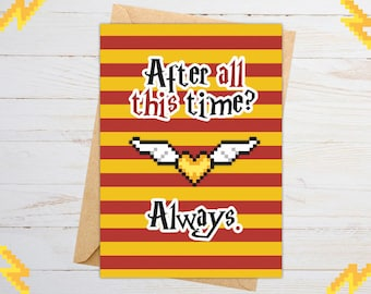 Harry Potter Birthday Card, Anniversary Card, Funny Birthday Card Boyfriend, Golden Snitch, Plush, Wand, Baby, Decal, Mug, Shirt