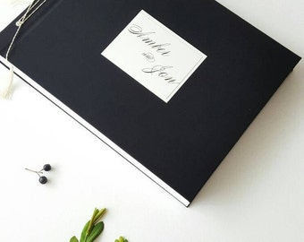 Premium Photo Album - Wedding Photo Album -Big size guest book - Instax Guest Book - Mini/Wide pictures pockets - From OreDesignSpace