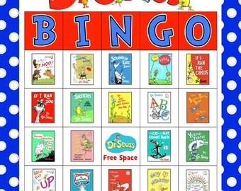 Dr. Seuss BINGO with calling cards