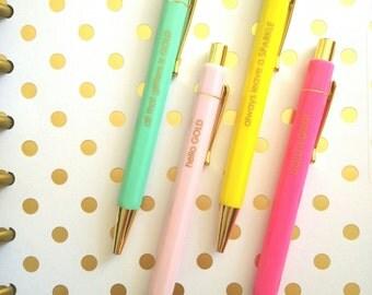 Pen - Gold & Color