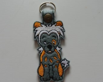 Chinese Crested (Embroidery/Felt/Keychain)