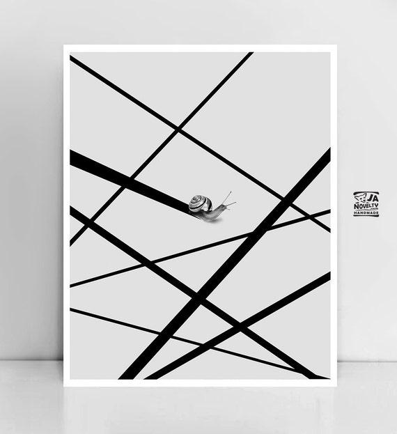 Line Drawing Poster : Large art lines poster black print minimalist