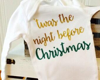 Night Before Christmas Baby Onesie