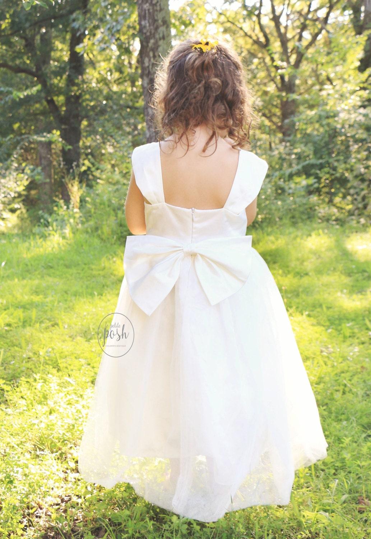 flower girl dresses flower girl white dress tulle by lePetitePosh