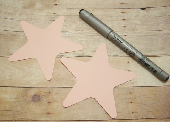 Cardstock Star Cutouts-Light Pink Star Cutouts