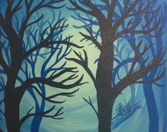 Blue Moody Forest