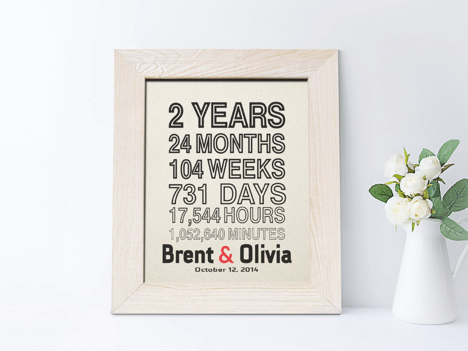 Second Wedding Anniversary Gifts For Men: 2nd Anniversary Gift For Husband Cotton Anniversary Gift For