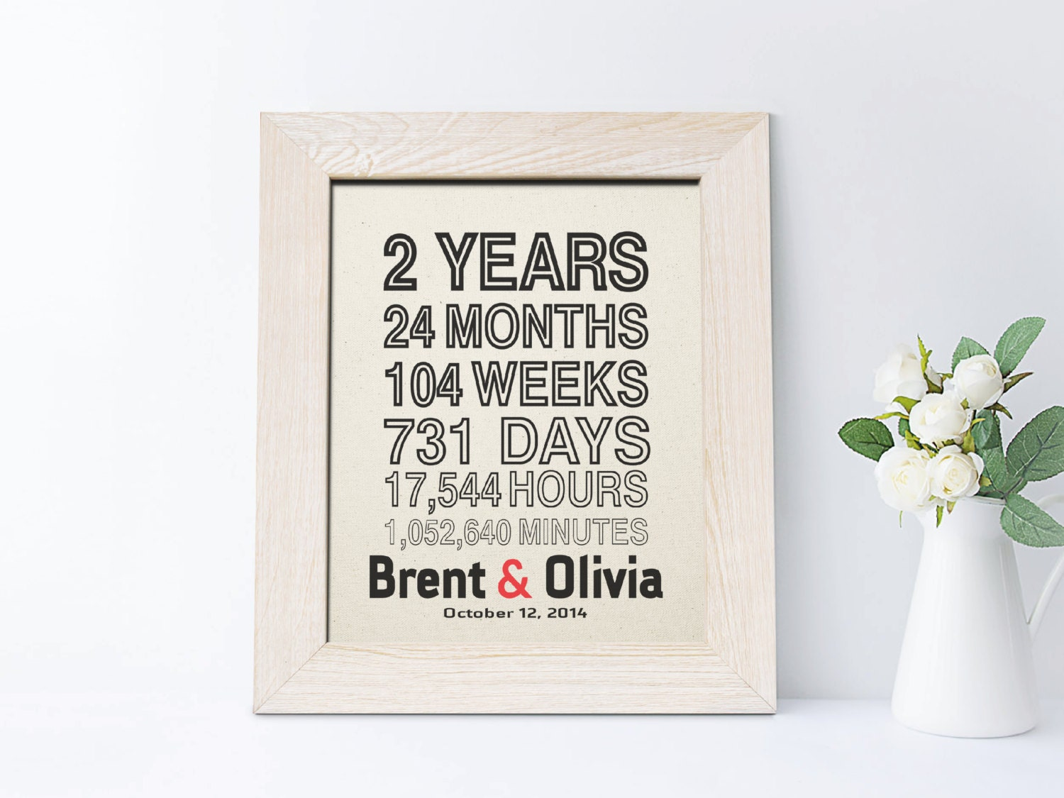 Second Wedding Anniversary Gifts For Husband: 2nd Anniversary Gift For Husband Cotton Anniversary Gift For