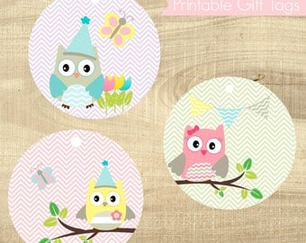 Printable Owl Gift Tags