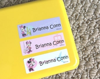 Back to school labels Waterproof labels Nursery labels Baby name stickers Kids name stickers Minnie mouse stickers Name tag sticker labels