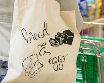 Tote Bag ORIGINAL - Bread & Eggs Grocery Market Tote Bag