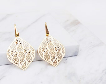 Filigree Crystals gold vermeil Earrings