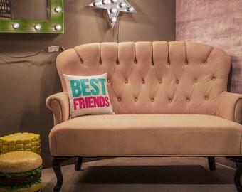 Best Friends Pillow 16x16 // Best Friends Cushion // Best Friends Throw Pillow // Decorative Pillows // Zipper Pillow // Free Inner Cushion