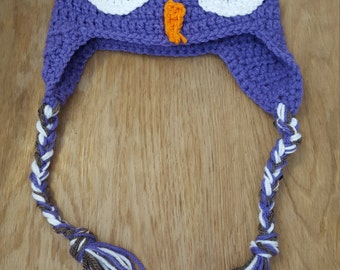 Owl hat purple