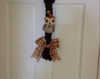 Braided Owl Door Hanger