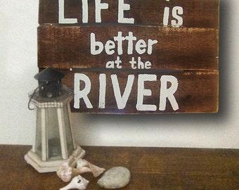 river signs cabin decor rustic signs cabin signs river cabin - Cabin Decor