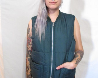 Vintage Green & Neon Hunting Vest
